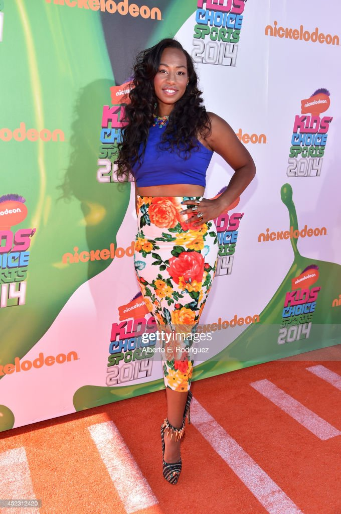 Olympic bobsledder <a gi-track='captionPersonalityLinkClicked' href=/galleries/search?phrase=Jazmine+Fenlator&family=editorial&specificpeople=9988437 ng-click='$event.stopPropagation()'>Jazmine Fenlator</a> attends Nickelodeon Kids' Choice Sports Awards 2014 at UCLA's Pauley Pavilion on July 17, 2014 in Los Angeles, California.