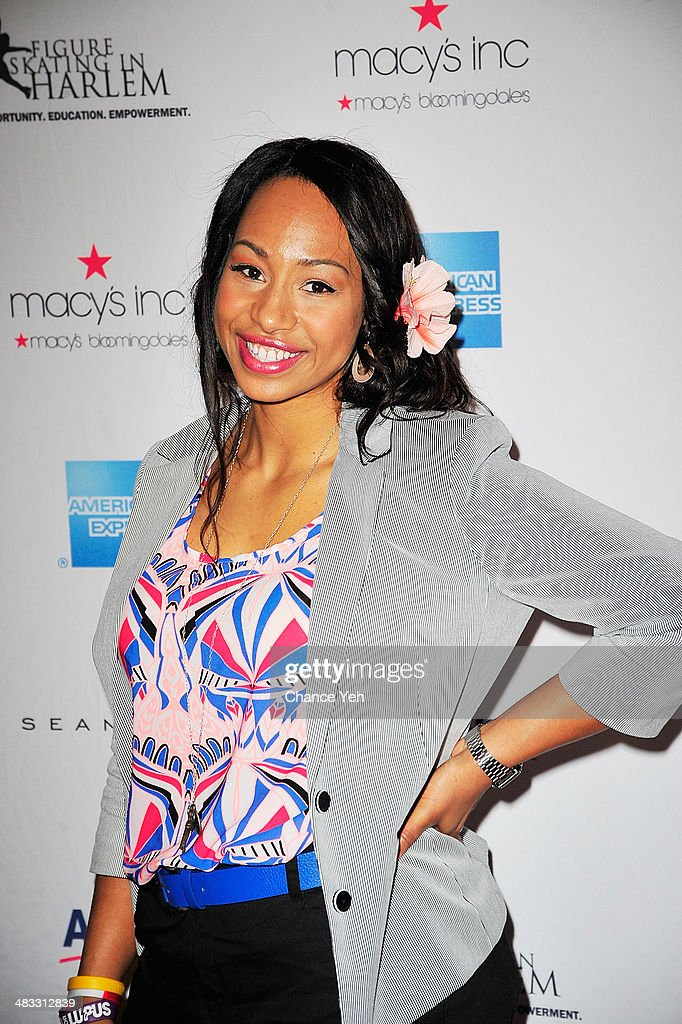 US Olympic Bobsledder <a gi-track='captionPersonalityLinkClicked' href=/galleries/search?phrase=Jazmine+Fenlator&family=editorial&specificpeople=9988437 ng-click='$event.stopPropagation()'>Jazmine Fenlator</a> attends the 2014 Skating With The Stars at Trump Rink at Central Park on April 7, 2014 in New York City.