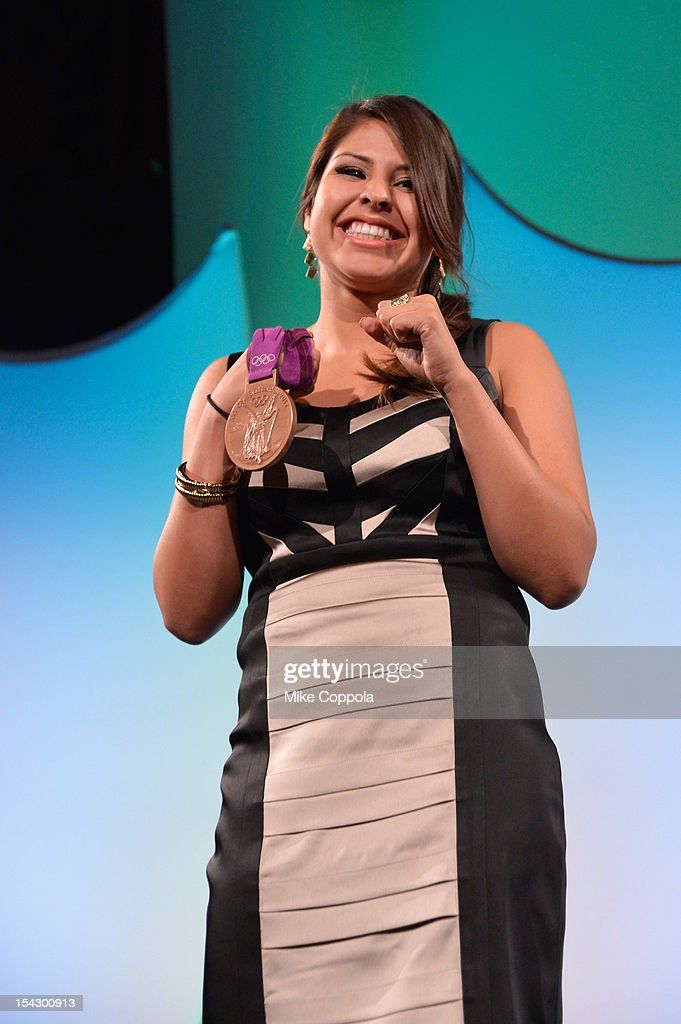 Olympic boxer Marlen Esparza attends the 33rd Annual Salute To Women In Sports Gala at Cipriani Wall Street on October 17, 2012 in New York City.