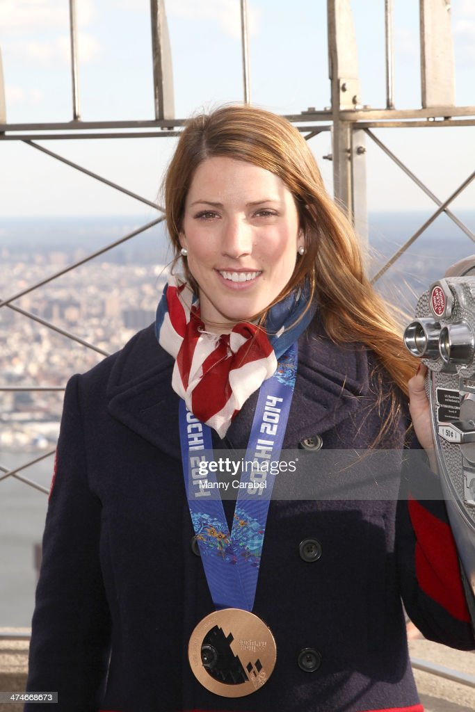 Olympic Medalist Erin Hamlin Visits The Empire State Building