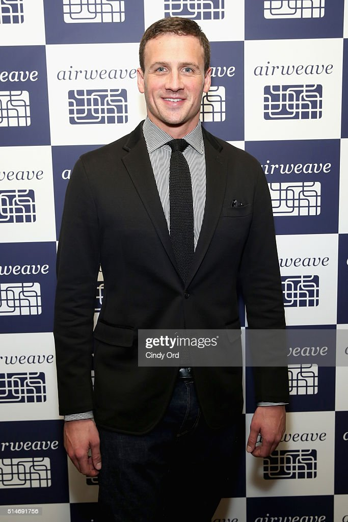 Olympic champion and airweave ambassador Ryan Lochte celebrates airweave's anniversary and advanced bedding technology on March 10, 2016 in New York City.