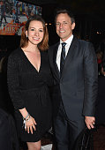 Olympic Champion Figure Skater Sarah Hughes and Seth Meyers attend the 2015 Friends of Hudson River Park Gala at Hudson River Park's Pier 62 on...
