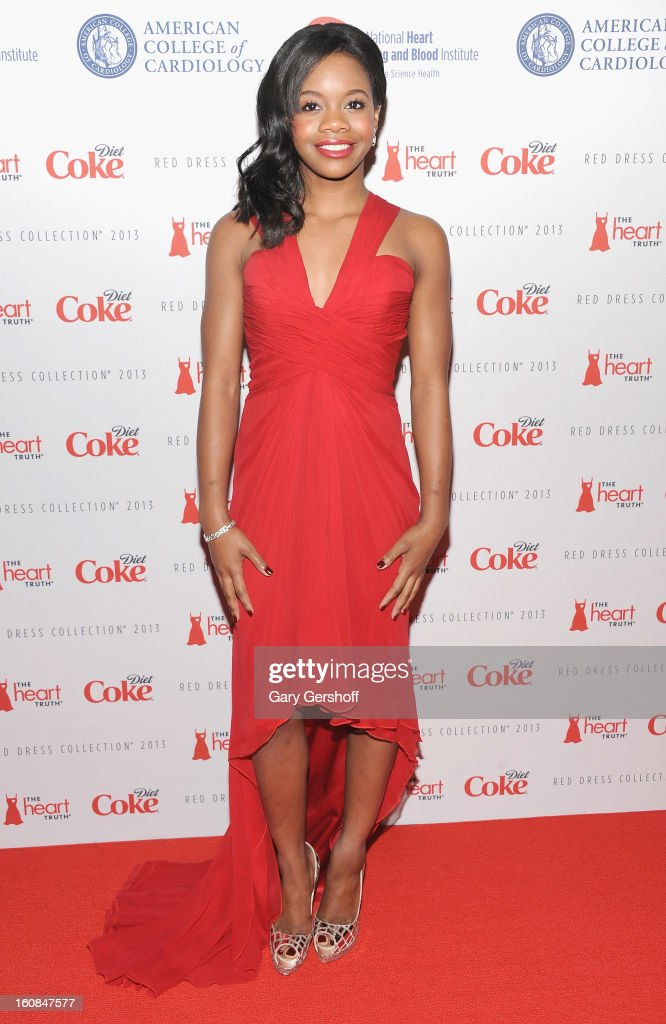 U.S. Olympic champion Gabrielle Douglas attends The Heart Truth's Red Dress Collection during Fall 2013 Mercedes-Benz Fashion Week at Hammerstein Ballroom on February 6, 2013 in New York City.
