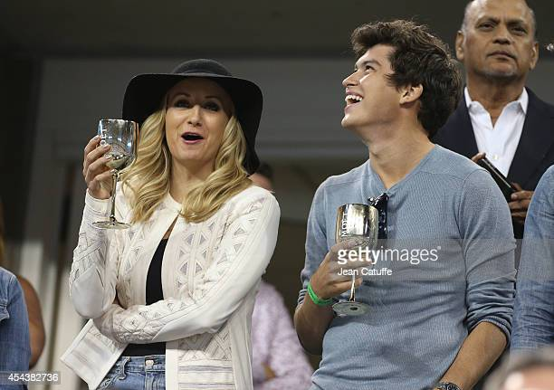 Olympic champion in gymnastics Nastia Liukin and actor Graham Phillips from 'The good wife' attend Day 5 of the 2014 US Open at USTA Billie Jean King...