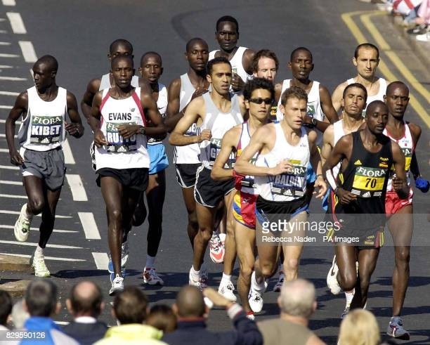 Olympic champion Italy's Stefano Baldini amongst the men's elite runners