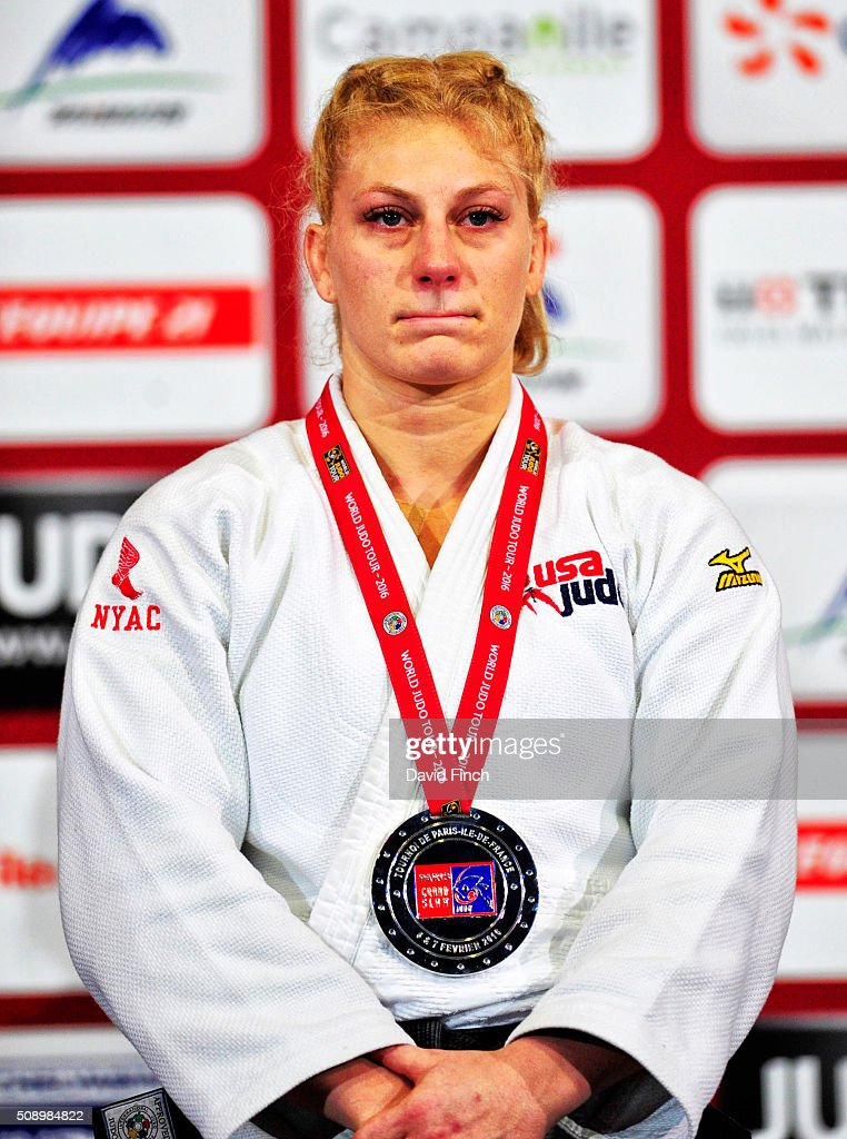 Olympic champion, <a gi-track='captionPersonalityLinkClicked' href=/galleries/search?phrase=Kayla+Harrison&family=editorial&specificpeople=7179048 ng-click='$event.stopPropagation()'>Kayla Harrison</a> of the United States won the u78kg silver medal during the Paris Grand Slam, Sunday, 7 February, 2016 at the AccorHotels Arena, Bercy, Paris, France.