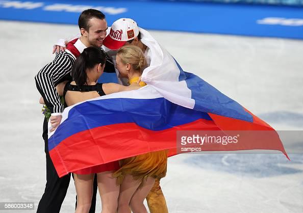 Olympic Champion Tatiana Volosozhar / Maxim Trankov with the silvermedalist Ksenia Stolbova / Fedor Klimov Figure Skating Pairs Free Skating Iceberg...
