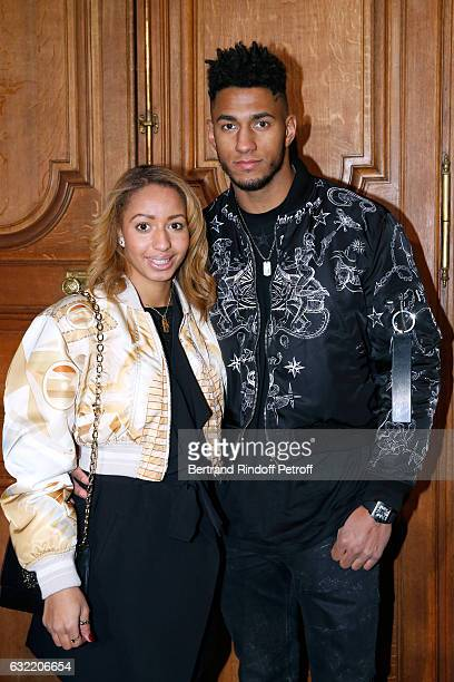 Olympic Champions of Boxe Estelle Mossely and Tony Yoka attend the Givenchy Menswear Fall/Winter 20172018 show as part of Paris Fashion Week on...