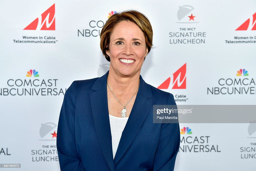 Olympic Correspondent and Tennis Analyst Mary Carillo hosts the WICT Signature Luncheon at Boston Convention and Exhibition Center on May 16 2016 in...