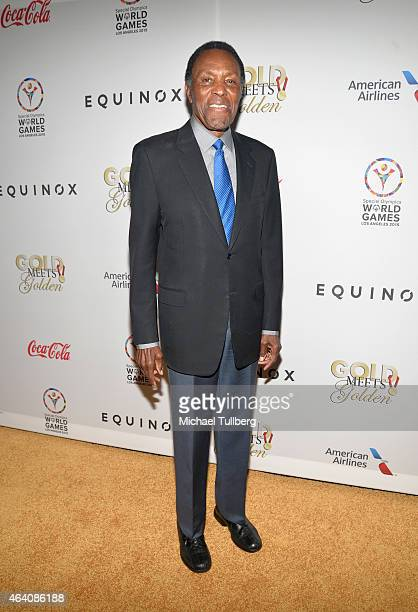 Olympic decathlete Rafer Johnson attends the 3rd Annual 'Gold Meets Golden' event to celebrate the 2015 Special Olympic Games at Equinox Sports Club...
