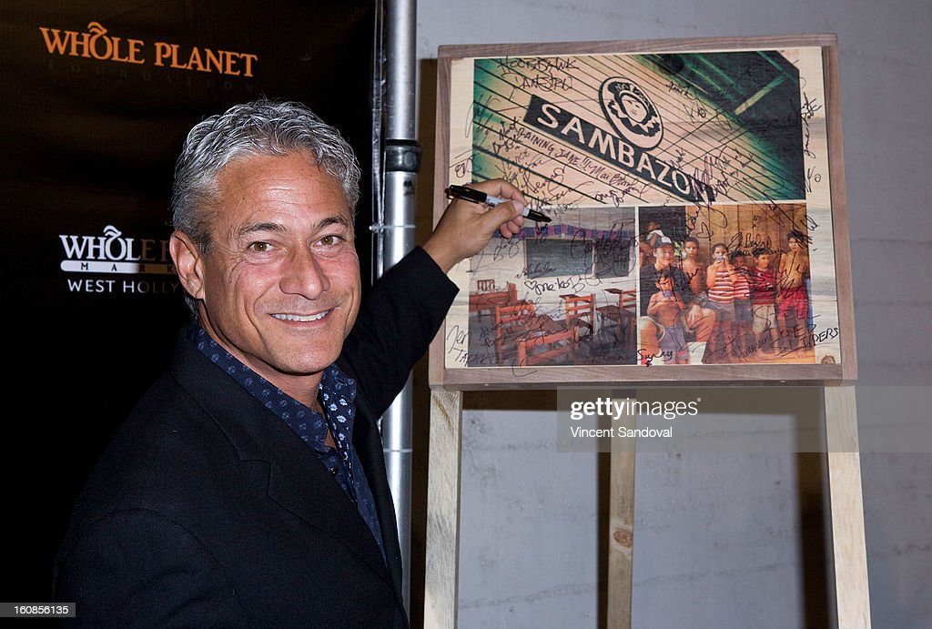 Olympic diver <a gi-track='captionPersonalityLinkClicked' href=/galleries/search?phrase=Greg+Louganis&family=editorial&specificpeople=217786 ng-click='$event.stopPropagation()'>Greg Louganis</a> attends The Grammy Awards: Whole Planet Foundation pre-Grammy benefit concert at East West Recording Studio on February 6, 2013 in Hollywood, California.
