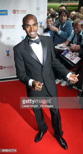 Olympic Double Gold Medal winner Mo Farah arrives at the Mo Farah Foundation fundraising ball in London
