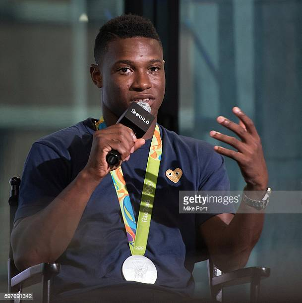Olympic fencer Daryl Homer attends the AOL Build Speaker Series to discuss 2016 Rio Olympic Fencing at AOL HQ on August 29 2016 in New York City