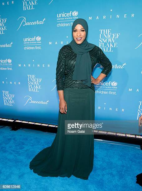 Olympic fencer Ibtihaj Muhammad attends the 12th Annual UNICEF Snowflake Ball at Cipriani Wall Street on November 29 2016 in New York City