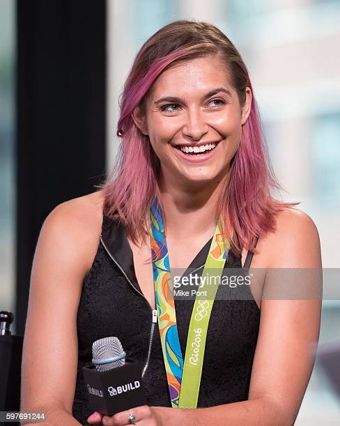 Olympic fencer Monica Aksamit attends the AOL Build Speaker Series to discuss 2016 Rio Olympic Fencing at AOL HQ on August 29 2016 in New York City