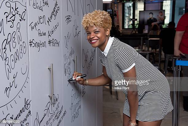 Olympic Fencer Nzingha Prescod attends the AOL Build Speaker Series to discuss 2016 Rio Olympic Fencing at AOL HQ on August 29 2016 in New York City