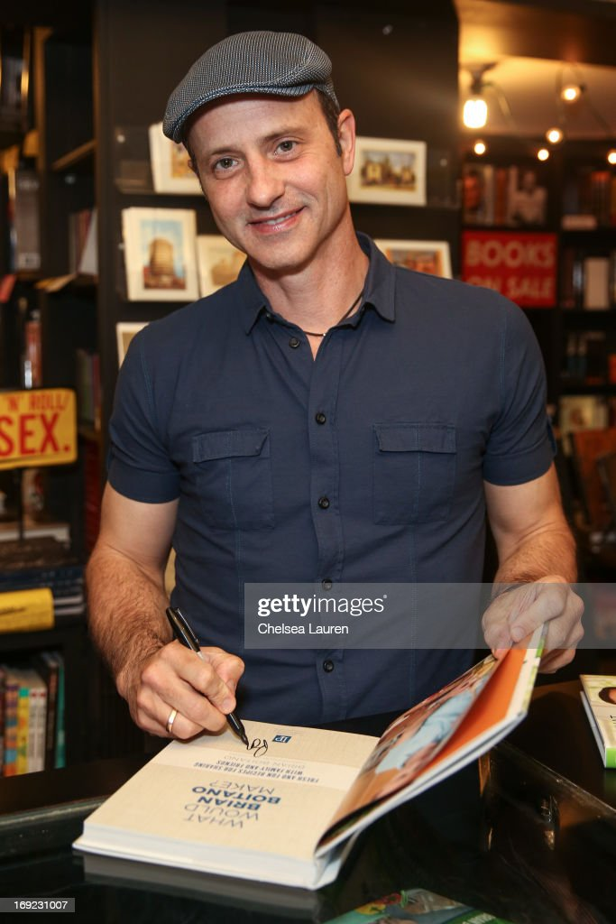 Olympic figure skater Brian Boitano presents and signs his book 'What Would Brian Boitano Make?: Fresh and Fun Recipes for Sharing with Family and Friends' at Book Soup on May 21, 2013 in West Hollywood, California.