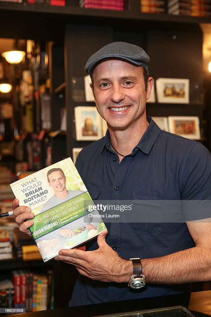 Olympic figure skater <a gi-track='captionPersonalityLinkClicked' href=/galleries/search?phrase=Brian+Boitano&family=editorial&specificpeople=961482 ng-click='$event.stopPropagation()'>Brian Boitano</a> presents and signs his book 'What Would <a gi-track='captionPersonalityLinkClicked' href=/galleries/search?phrase=Brian+Boitano&family=editorial&specificpeople=961482 ng-click='$event.stopPropagation()'>Brian Boitano</a> Make?: Fresh and Fun Recipes for Sharing with Family and Friends' at Book Soup on May 21, 2013 in West Hollywood, California.