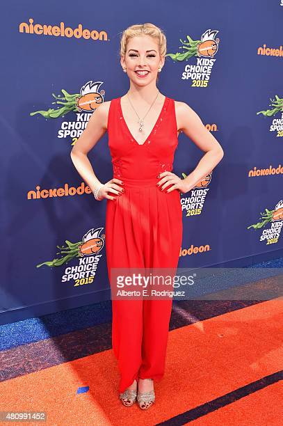 Olympic figure skater Gracie Gold attends the Nickelodeon Kids' Choice Sports Awards 2015 at UCLA's Pauley Pavilion on July 16 2015 in Westwood...