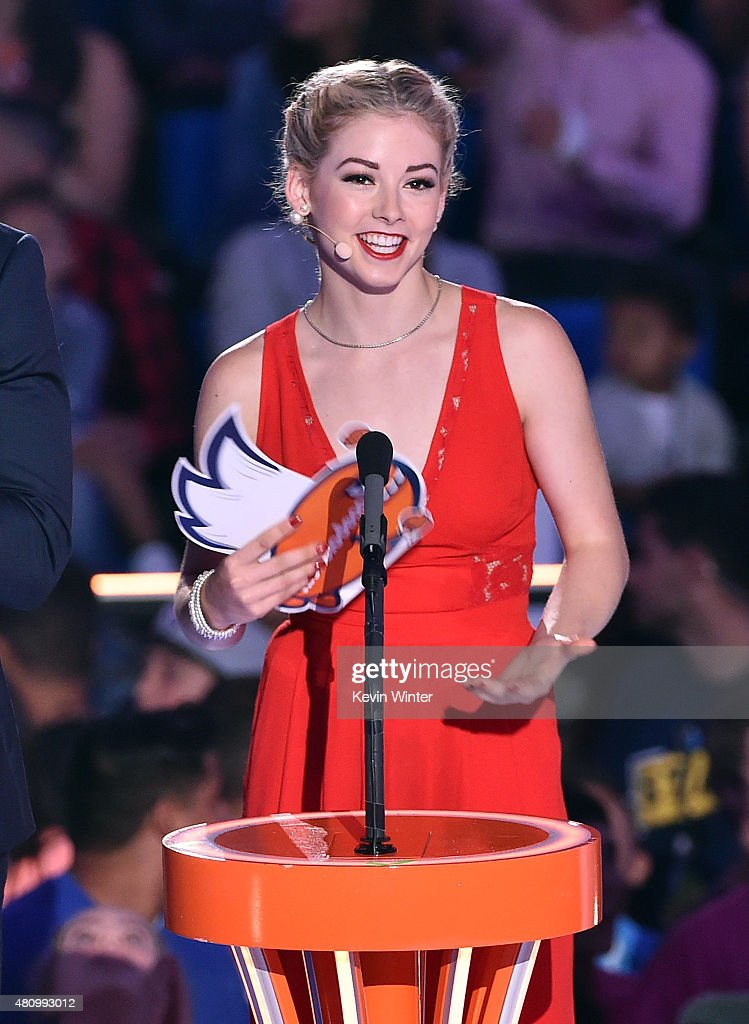 U.S. Olympic figure skater <a gi-track='captionPersonalityLinkClicked' href=/galleries/search?phrase=Gracie+Gold&family=editorial&specificpeople=9153874 ng-click='$event.stopPropagation()'>Gracie Gold</a> speaks onstage at the Nickelodeon Kids' Choice Sports Awards 2015 at UCLA's Pauley Pavilion on July 16, 2015 in Westwood, California.