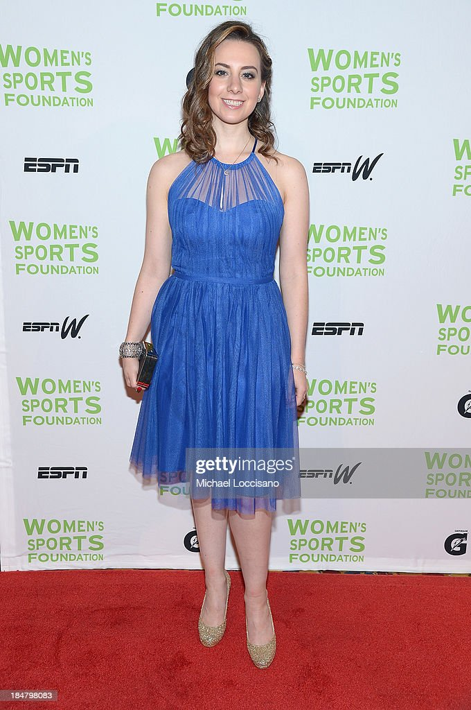 Olympic figure skater Sarah Hughe attends the 34th annual Salute to Women In Sports Awards at Cipriani, Wall Street on October 16, 2013 in New York City.