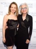 Olympic figure skater Sarah Hughes and founder and CEO of WWO Dr Jane Aronson attends the Worldwide Orphans Gala on November 18 2013 in New York City