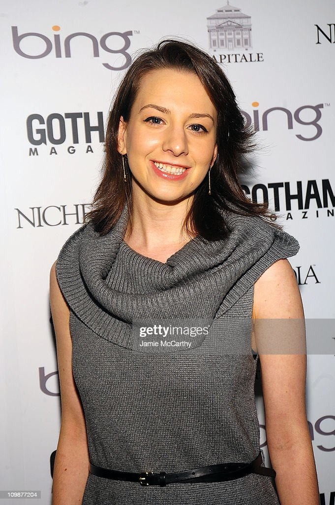 Olympic figure skater Sarah Hughes attends Gotham Magazine's Annual Gala hosted by Alicia Keys and presented by Bing at Capitale on March 15 2010 in...
