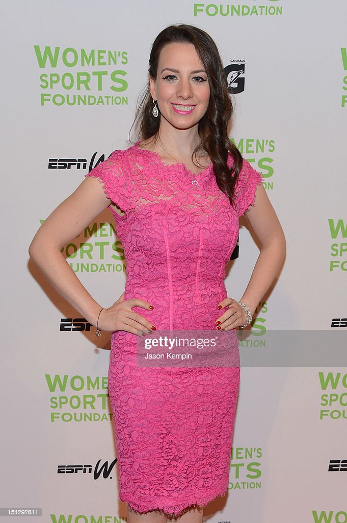 Olympic figure skater Sarah Hughes attends the 33rd Annual Salute To Women In Sports Gala at Cipriani Wall Street on October 17, 2012 in New York City.