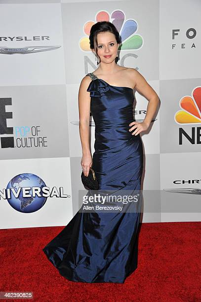 Olympic figure skater Sasha Cohen attends the NBC/Universal's 71st Annual Golden Globes After Party at The Beverly Hilton Hotel on January 12 2014 in...