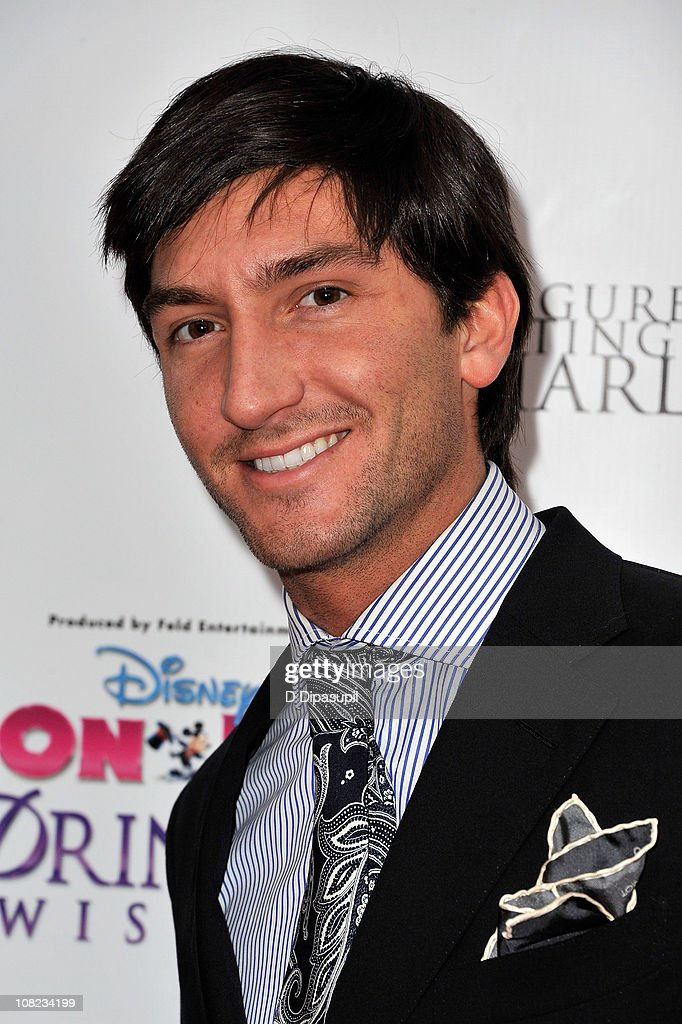 Olympic figure skating gold medalist and TV personality <a gi-track='captionPersonalityLinkClicked' href=/galleries/search?phrase=Evan+Lysacek&family=editorial&specificpeople=243028 ng-click='$event.stopPropagation()'>Evan Lysacek</a> attends Disney On Ice's 'Princess Wishes' opening night at Madison Square Garden on January 21, 2011 in New York City.