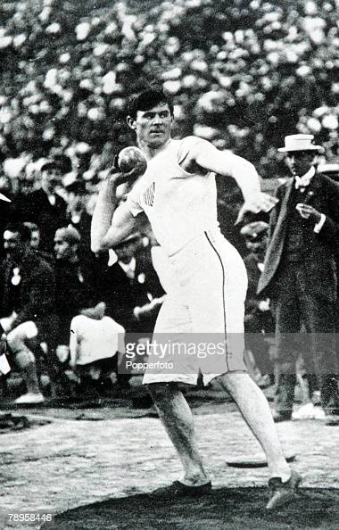 Olympic Games Athens Greece Shotput USA's Martin J Sheridan in action to win the gold medal