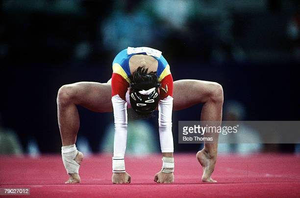 Olympic Games Barcelona Spain Women's Gymnastics A gymnast in action during the Floor exercise