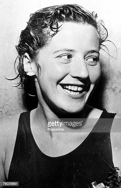 Olympic Games London England Swimming Women's 100 Metres Freestyle Denmark's Greta Andersen who won the gold medal