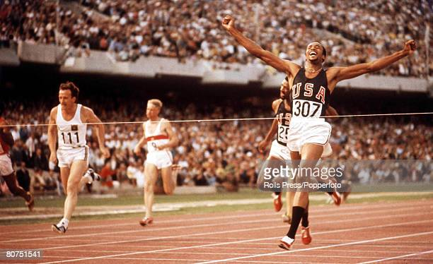 Olympic Games Mexico City Mexico Men's 200 metres Final Tommie Smith of the USA wins Gold