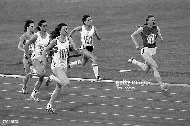 Olympic Games Moscow Russia 28th July 1980 Athletics Women's 200 Metres Great Britain's Kathy Smallwood during the race