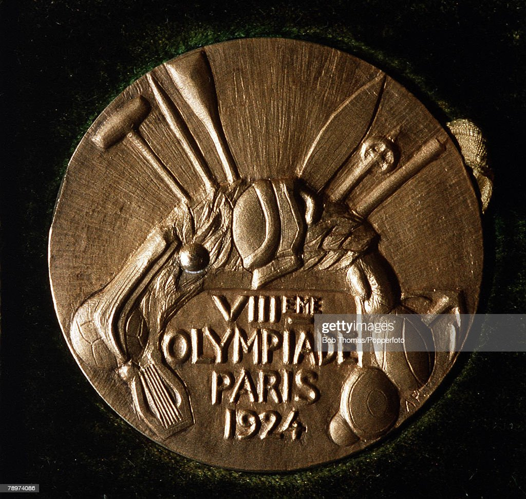 Olympic Games, Paris, France, Football,The gold medal awarded to Jose Nasazzi