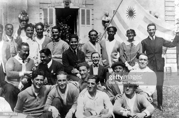 Olympic Games Paris France FootballUruguay winners of the Gold medal celebrate at Marie Pain's house at Argenteuil