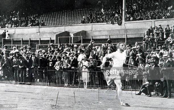 Olympic Games Paris France Great Britain's Harold Abrahams wins the University race in 1923 one year before winning the gold medal in the 100 metres...