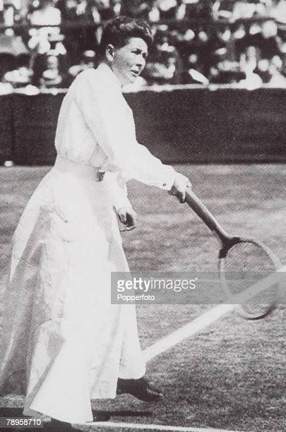 Olympic Games Paris France Tennis Great Britain's Charlotte Cooper who won the gold medal for the Singles and Mixed Doubles competitions