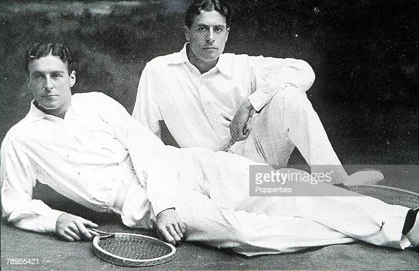 Olympic Games Paris France Tennis The Doherty brothers of Great Britain Hugh Lawrence Doherty who won the gold medal in the singles and doubles...