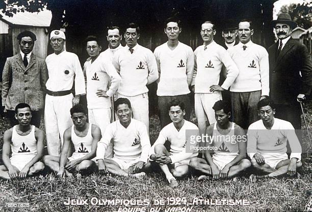 Olympic Games Paris France The Japanese Athletics team