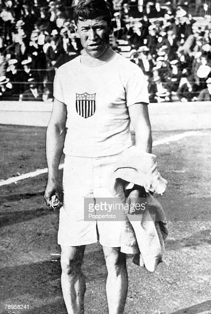 Olympic Games Stockholm Sweden Pentathlon/Decathlon USA's Jim Thorpe Gold medallist in the penathlon and decathlon events