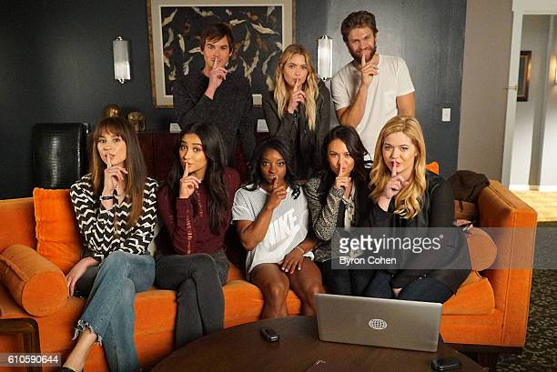 Olympic gold medal gymnast Simone Biles visits the set of 'Pretty Little Liars'' BACK