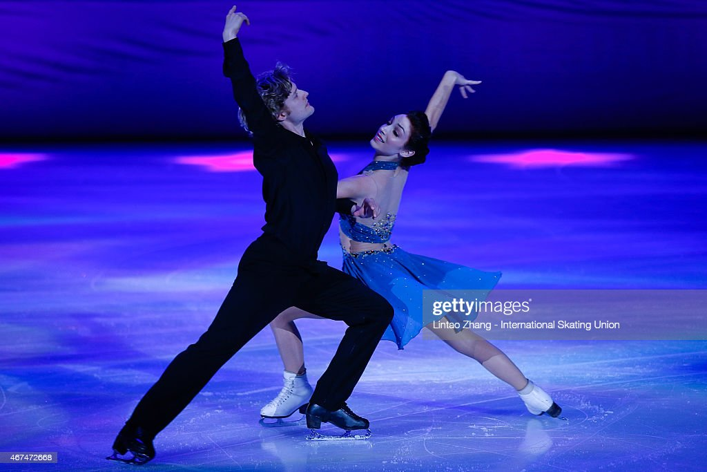 Olympic Gold Medal Ice Dancing champions <a gi-track='captionPersonalityLinkClicked' href=/galleries/search?phrase=Meryl+Davis&family=editorial&specificpeople=3995758 ng-click='$event.stopPropagation()'>Meryl Davis</a> and <a gi-track='captionPersonalityLinkClicked' href=/galleries/search?phrase=Charlie+White+-+Figure+Skater&family=editorial&specificpeople=6691356 ng-click='$event.stopPropagation()'>Charlie White</a> of United States perform on the ice during the opening ceremony of the 2015 ISU World Figure Skating Championships at Shanghai Oriental Sports Center on March 25, 2015 in Shanghai, China.