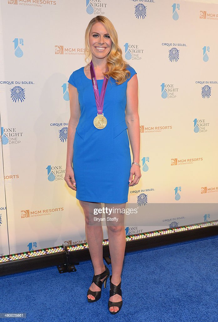Olympic Gold Medal rower Esther Lofgren arrives at Cirque du Soleil's 2nd annual 'One Night for One Drop' at Aureole Las Vegas at the Mandalay Bay Resort and Casino on March 21, 2014 in Las Vegas, Nevada.