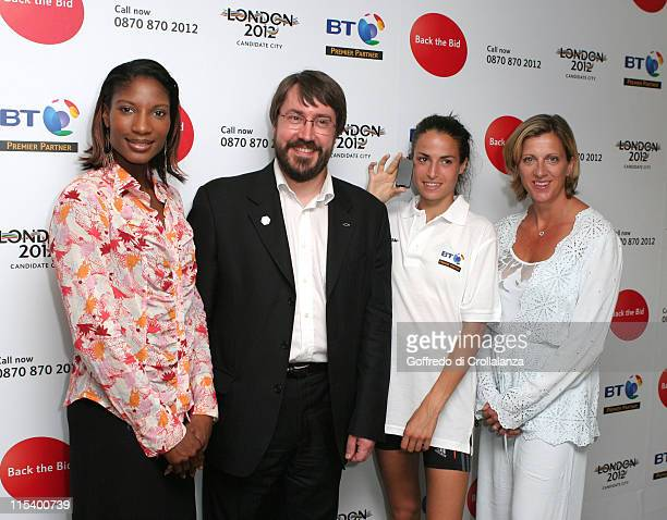 Olympic Gold Medal Winner Denise Lewis BT Director Clive Ansell Jo Ankier and Olympic Gold Medal Winner Sally Gunnell