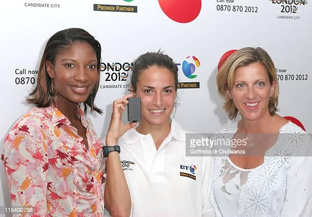 Olympic Gold Medal Winner Denise Lewis Jo Ankier and Olympic Gold Medal Winner Sally Gunnell