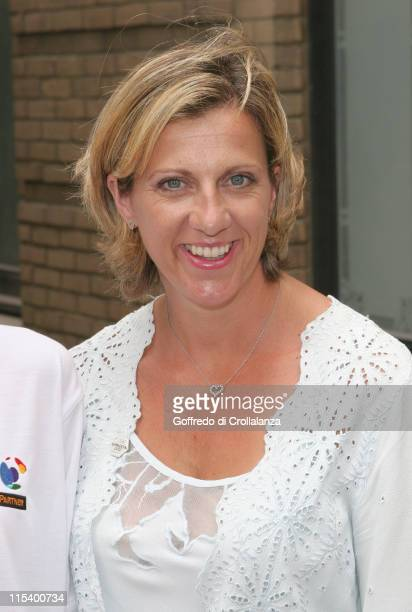 Olympic Gold Medal Winner Sally Gunnell during BT And 2012 London Olympic Bid Photocall at BT Faraday Building in London Great Britain