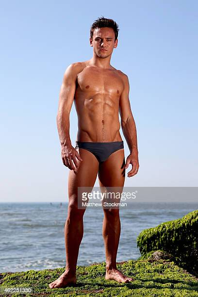 Olympic Gold Medal winning diver Tom Daley of Great Britain poses for a portrait during a break from training for the 2016 Rio Olympic Games at...