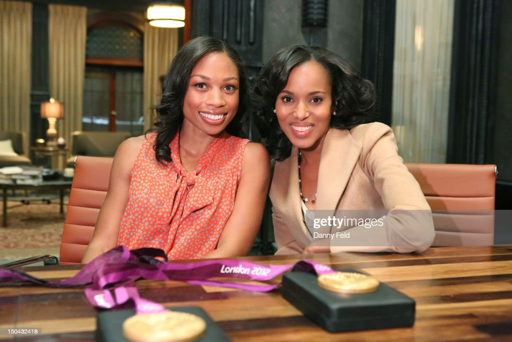 SCANDAL - Olympic Gold Medalist Allyson Felix visited with the cast of ABC's 'Scandal,' on Thursday, August 17, 2012. WASHINGTON